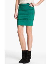 Kelly Wearstler Mineral Wash Stretch Twill Skirt green - Lyst