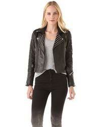 Rebecca Minkoff Theo Studded Leather Jacket - Lyst