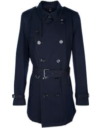 Burberry Brit Double Breasted Coat - Lyst