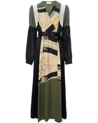Dries Van Noten Belted Dress - Lyst
