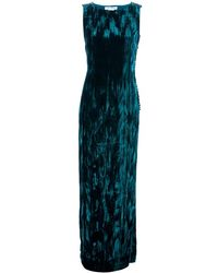 Oscar de la Renta Long Length Textured Dress - Lyst