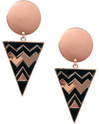 Asos Spot Triangle Doorknocker Earrings - Lyst