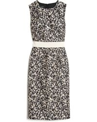 Giambattista Valli Knit Print Sleeveless Dress - Lyst