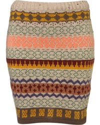 Topshop Knitted Fairisle Skirt - Lyst