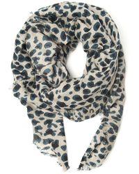 Yarnz - Leopard Print Scarf - Lyst
