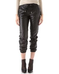 Juicy Couture Leather Track Pants - Lyst