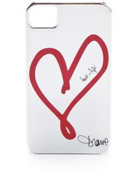 Diane Von Furstenberg Metallic Single Heart Iphone 4 Case - Lyst