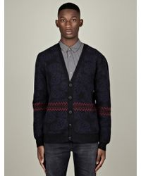 Marc Jacobs Marc Jacobs Mens Paisley Knit Cardigan - Lyst