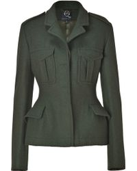 McQ by Alexander McQueen Military Green Wool Army Jacket - Lyst