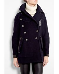 Belstaff Ink Bromley Over-sized Wool Pea Coat - Lyst
