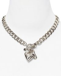 Juicy Couture - Silver Plated Starter Necklace 16 - Lyst