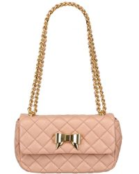 Moschino Cheap & Chic Quilted Nappa Bow Shoulder Bag - Lyst