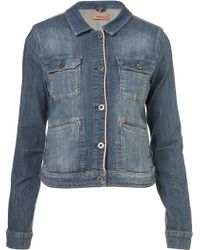 Moto Moto Denim Worker Jacket - Lyst