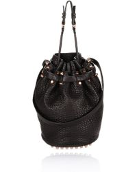 Alexander Wang Diego In Black Pebble With Rosegold - Lyst