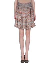 Alice + Olivia Knee Length Skirt pink - Lyst