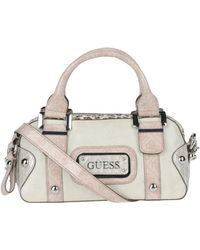 Guess Medium Fabric Bag - Lyst