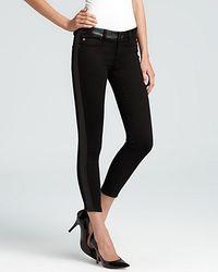 Retrosuperfuture - Hudson Jeans Leeloo Leather Color Block Skinny Crop - Lyst