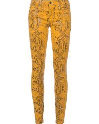 7 For All Mankind Python Print Jeans - Lyst