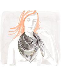 Hermès Scarf gray - Lyst
