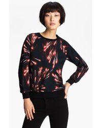 MSGM Firework Print Sweatshirt black - Lyst