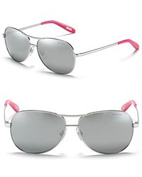 Ralph Lauren Ralph By Aviator Sunglasses with Colored Temple - Lyst