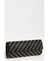 Whiting & Davis Crystal Chevron Flap Clutch - Lyst
