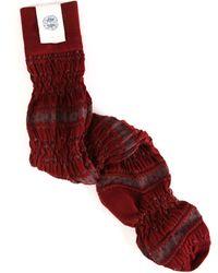 Free People Fairisle Otk Socks in Burgundy - Lyst