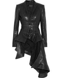 Haider Ackermann Origami Leather Jacket black - Lyst