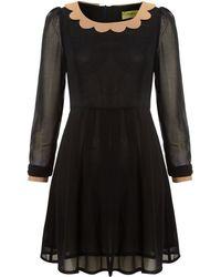 Max C - Scallop Collar Dress - Lyst