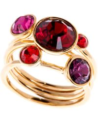 Ted Baker - Ted Baker Jewel Stack Ring Small Medium - Lyst