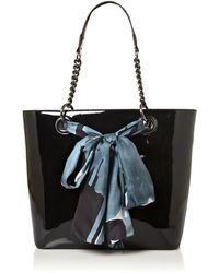 DKNY Patent Scarf Large Tote Bag - Lyst