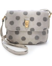 Marc By Marc Jacobs Embossed Lizzie Dots Cross Body Bag black - Lyst