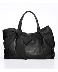 Ann Taylor Grosgrain Bow Leather Bag - Lyst