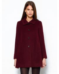 Opening Ceremony Burgundy Flare Coat - Lyst