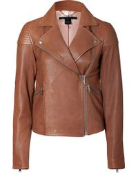 Marc By Marc Jacobs Kahlua Brown Sergeant Leather Jacket - Lyst