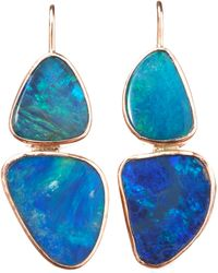Sandra Dini - Double Blue Opal Earrings - Lyst