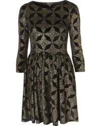 Topshop Velvet Glitter Star Dress - Lyst