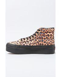 Vans - The Sk8 Hi Platform Sneaker in Leopard and All Black - Lyst