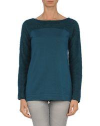 Alberta Ferretti Long Sleeve Jumper blue - Lyst