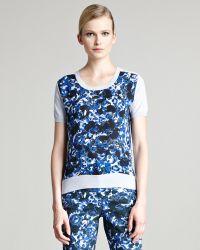 Erdem - Arizona Floralprint Shortsleeve Sweater - Lyst