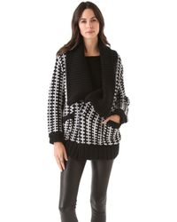 Mason by Michelle Mason Car Coat Cardigan - Lyst