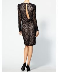 Rachel Roy Lace Combo Dress - Lyst