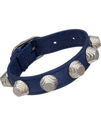 Balenciaga Arena Giant All Stud Bracelet - Lyst
