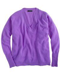 J.Crew Collection Cashmere Boyfriend Sweater - Lyst