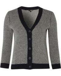 NW3 by Hobbs - Nw3 Contrast Waffle Cardigan - Lyst