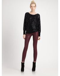 Alice + Olivia Haley Sequined Wool Cashmere Pullover - Lyst