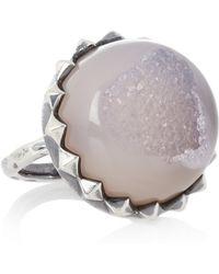 Bottega Veneta Sterling Silver Agate Ring - Lyst