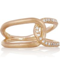 Brooke Gregson - Infinity 18karat Rose Gold Diamond Ring - Lyst