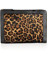 Christian Louboutin Leathertrimmed Leopardprint Calf Hair Document Holder - Lyst