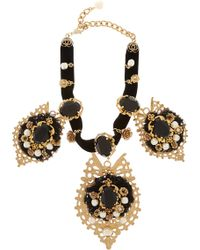 Dolce & Gabbana Goldplated Swarovski Crystal Necklace - Lyst